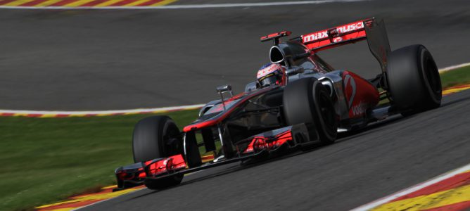 Jenson Button en Spa