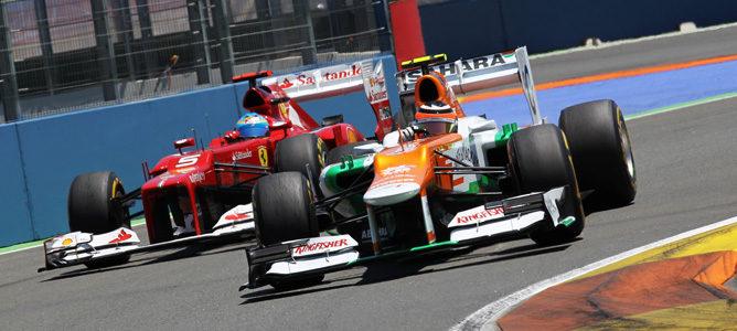 Nico Hülkenberg y Fernando Alonso