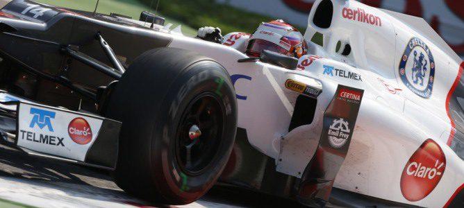Kamui Kobayashi a los mandos de su Sauber en Monza