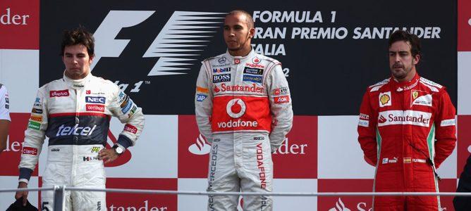 podio del GP de Italia 2012