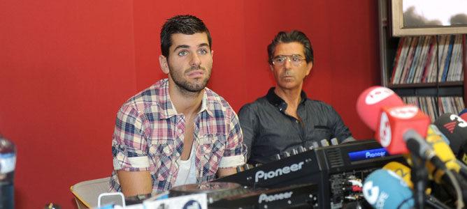 Jaime Alguersuari en rueda de prensa