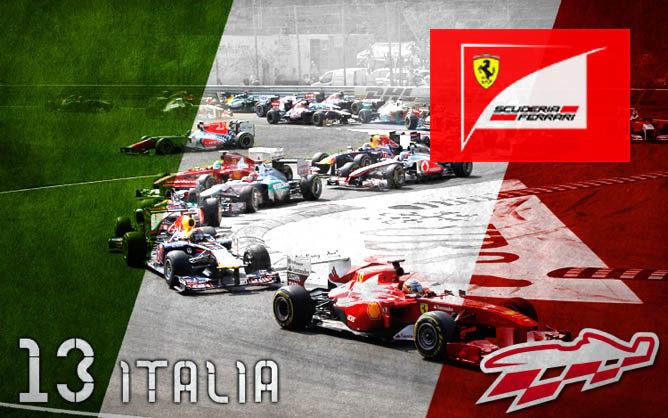 Cartel anunciador del GP de Italia de F1
