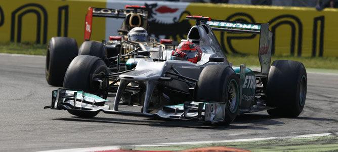 Un Mercedes rueda sobre el asfalto de Monza