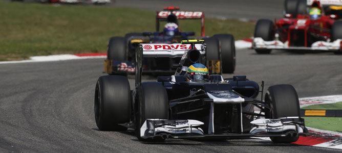 Un Williams rueda sobre el asfalto de Monza