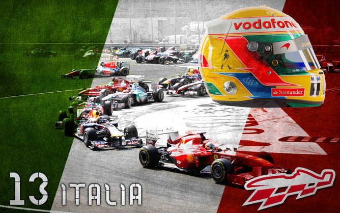 Cartel anunciador del GP de Italia