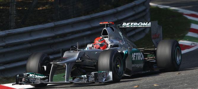 Michael Schumacher en el asfalto de Monza