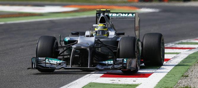 Nico Rosberg en el asfalto de Monza