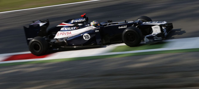Pastor Maldonado en el asfalto de Monza
