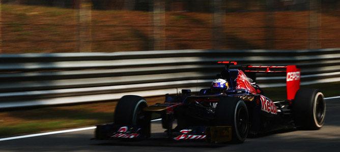 Daniel Ricciardo en el asfalto de Monza