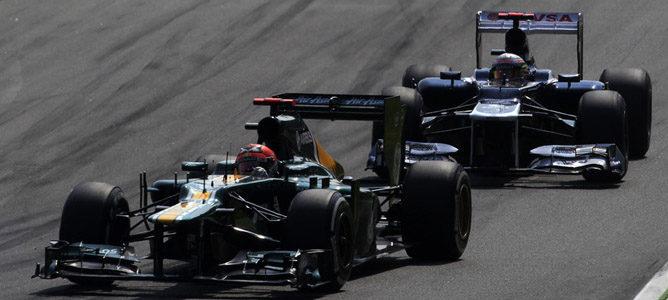 Heikki Kovalainen en el asfalto de Monza