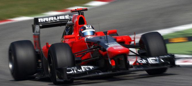 Timo Glock en el asfalto de Monza
