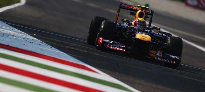 Mark Webber en el asfalto de Monza
