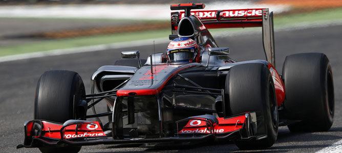Jenson Button en el asfalto de Monza