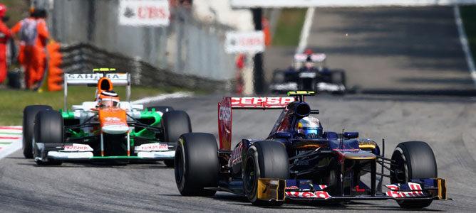 Jean-Eric Vergne en el asfalto de Monza