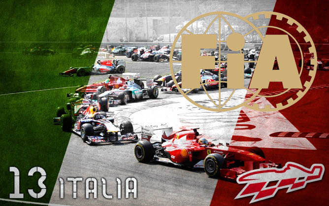 Cartel anunciador del GP de Italia 2012