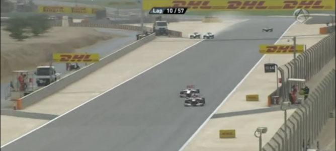 Hamilton y Rosberg en el GP de Barein