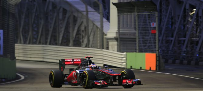 Jenson Button en Marina Bay