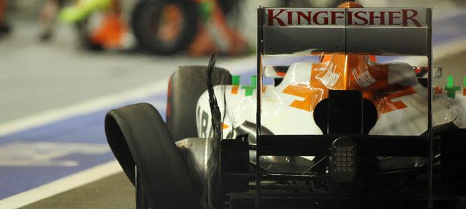 Nico Hülkenberg sufrió un pinchazo al final de la carrera