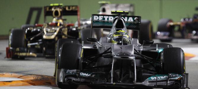 Nico Rosberg fue quinto en Singapur 2012