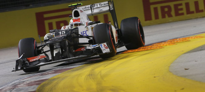 Sergio Perez en Singapur