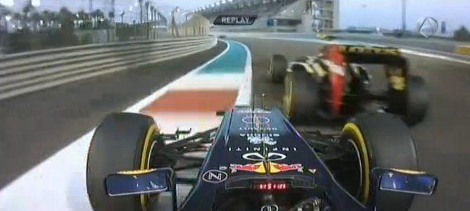 Vettel saliéndose de la pista