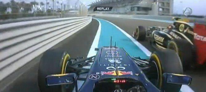 Vettel por fuera de la pista