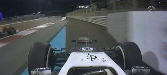 Sergio fuera de la pista