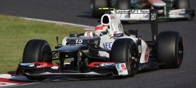 """Lewis Hamilton califica de """"alocada"""" la conducción de Sergio Pérez en Japón"""