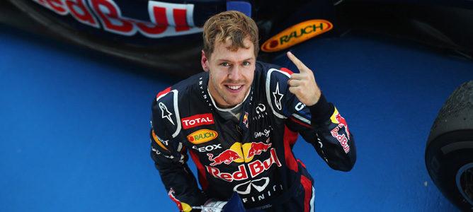 Sebastian Vettel celebra su victoria en Japón 2012