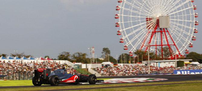 Lewis Hamilton con McLaren en Suzuka, Japón 2012