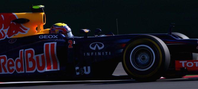 Mark Webber prueba el neumático blando en Yeongam