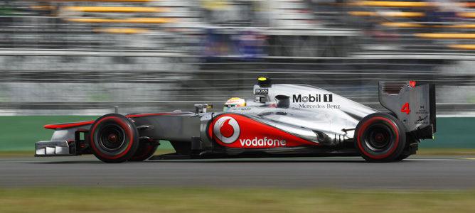 Lewis Hamilton durante la clasificación del GP de Corea
