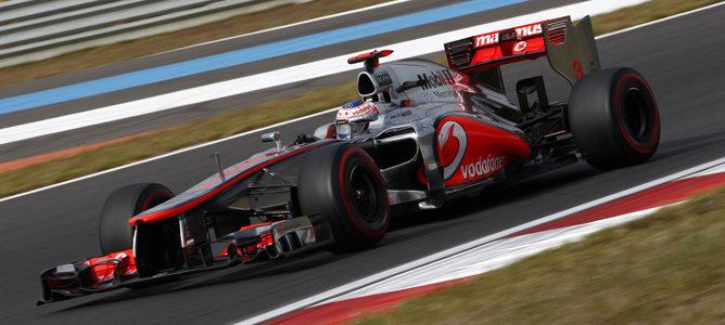 Jenson Button durante la clasificación del GP de Corea