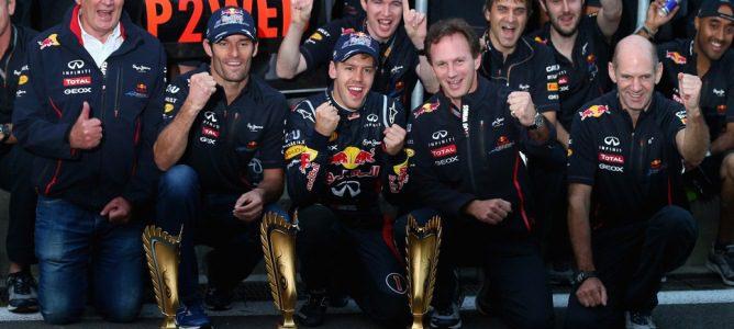 El equipo Red Bull celebra el doblete en Corea