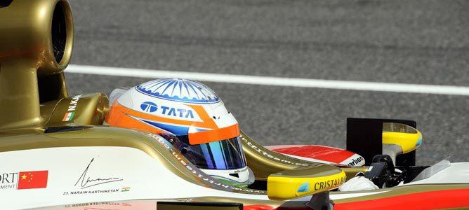 Narain Karthikeyan en su F112
