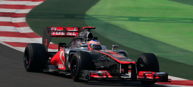 Jenson Button en GP de India 2012