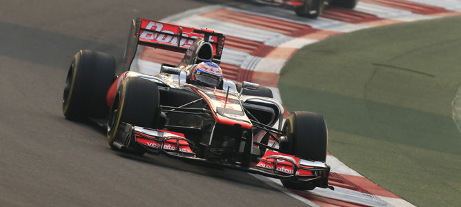 Jenson Button en la carrera del GP de India
