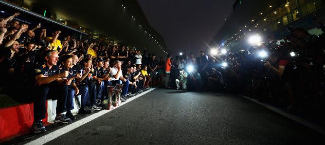 Red Bull celebra su triunfo en India 2012