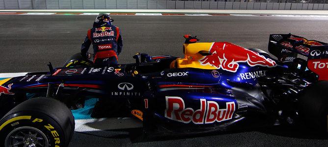 Sebastian Vettel detuvo su Red Bull RB8 al final de la clasificación en Abu Dabi