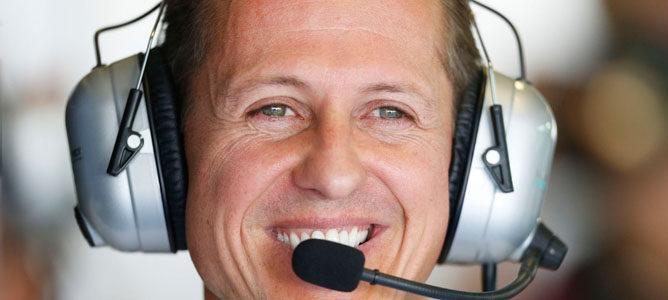 Michael Schumacher sonriente