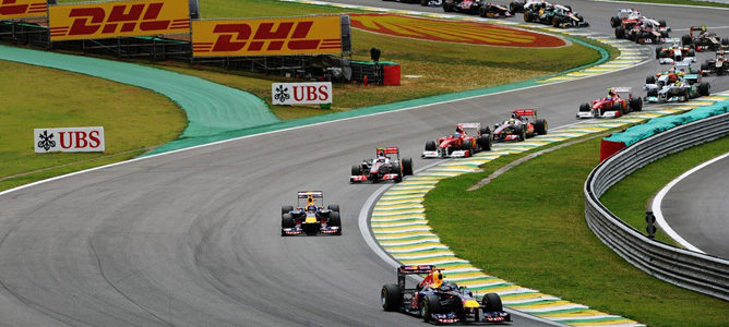 Salida del GP de Brasil 2011