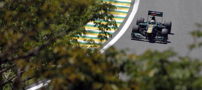 Giedo van der Garde durante los entrenamientos libres del GP de Brasil 2012