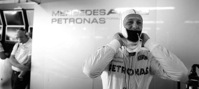 Michael Schumacher en su último GP en la Fórmula 1