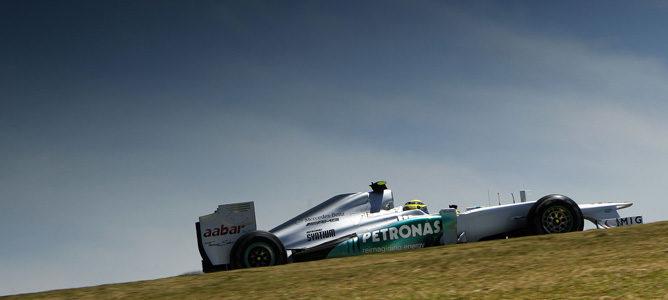 Nico Rosberg en el GP de Brasil 2012