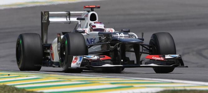 Kamui Kobayashi con Sauber en Brasil 2012
