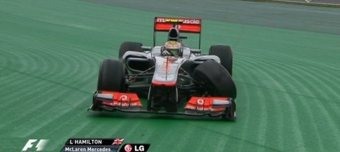 Hamilton con la suspensión rota