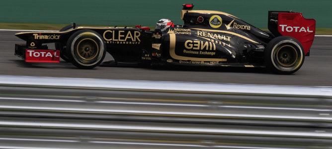 Kimi Räikkönen con Lotus en Interlagos