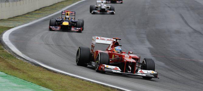 Fernando Alonso en Brasil