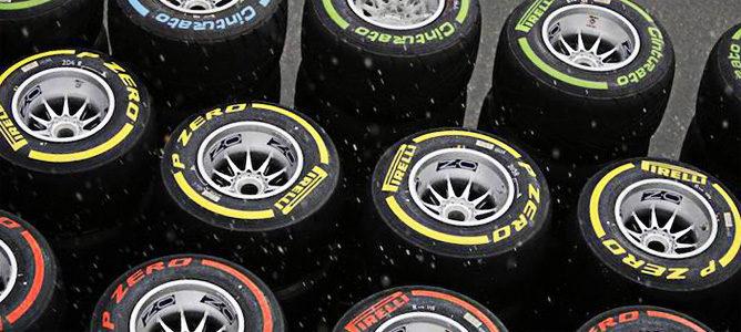 Neumáticos Pirelli bajo la lluvia en 2012