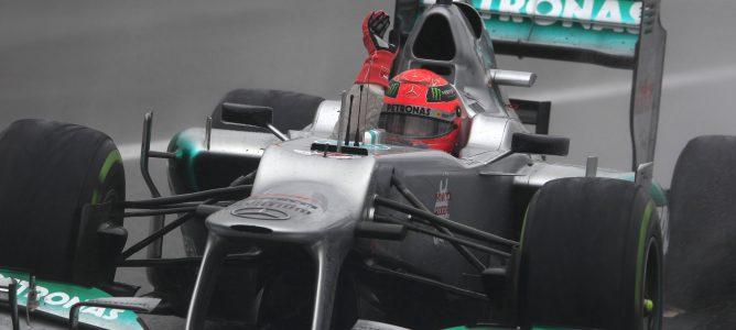 Michael Schumacher en el GP de Brasil 2012